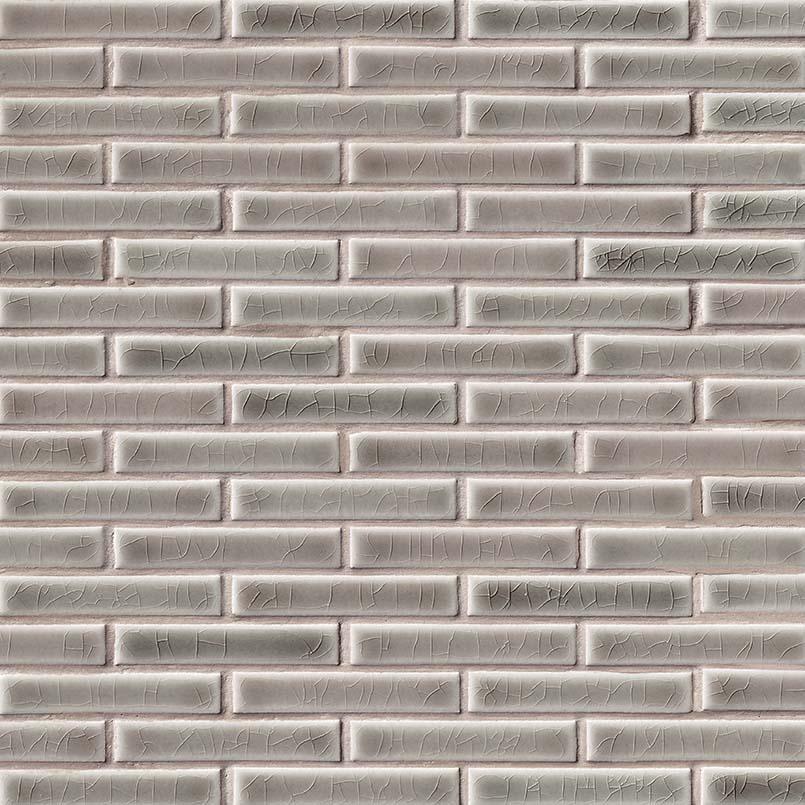 Dove Gray Brick Pattern 8 Mm Ceramic Backsplash Tile