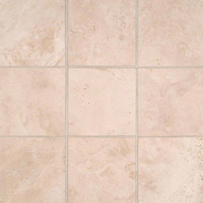 Durango Cream 4x4 Honed and Beveled Tile