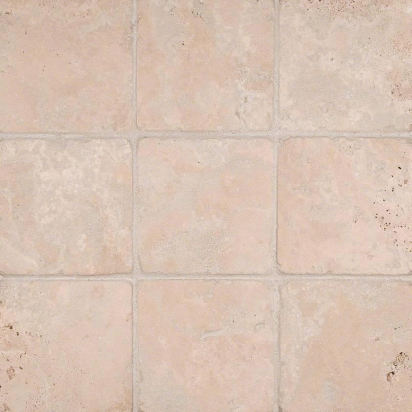 Durango Cream 4x4 Tumbled Tile