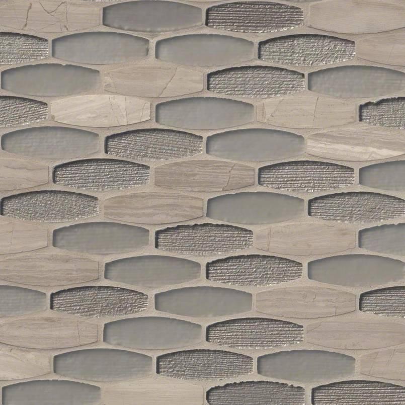 Ellipse Gris 8mm Decorative Mosaic Tile