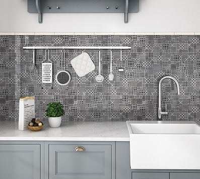 Encaustic Pattern Backsplash Tile