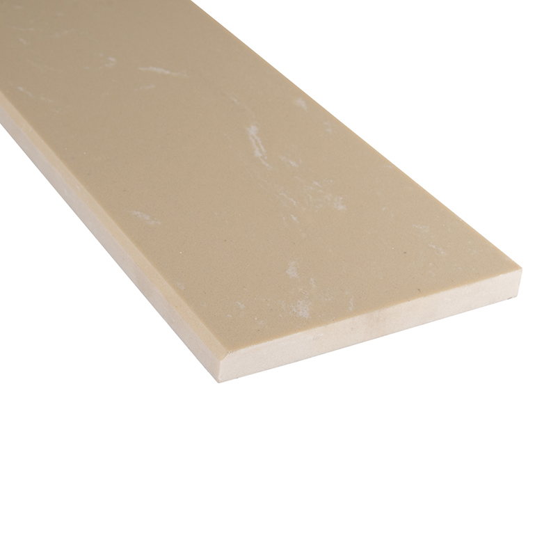Engineered Beige 6x37x0.62 Polished Single Beveled