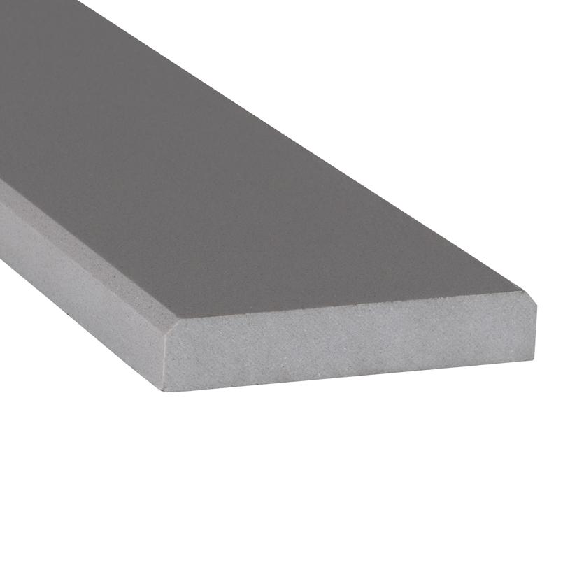 Engineered Gray 6x72x0.75 Polished Double Beveled Thresholds