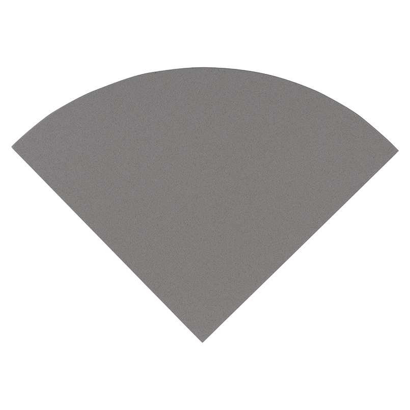 "Engineered Gray 9"" Radius Cornershelf Polished"