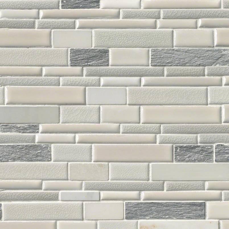 Everest Interlocking Pattern 8mm Decorative Mosaic Tile
