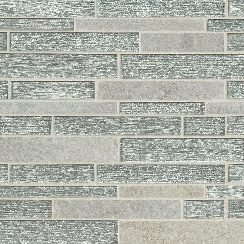 Evita Ice Interlocking 8mm Decorative Mosaic Tile