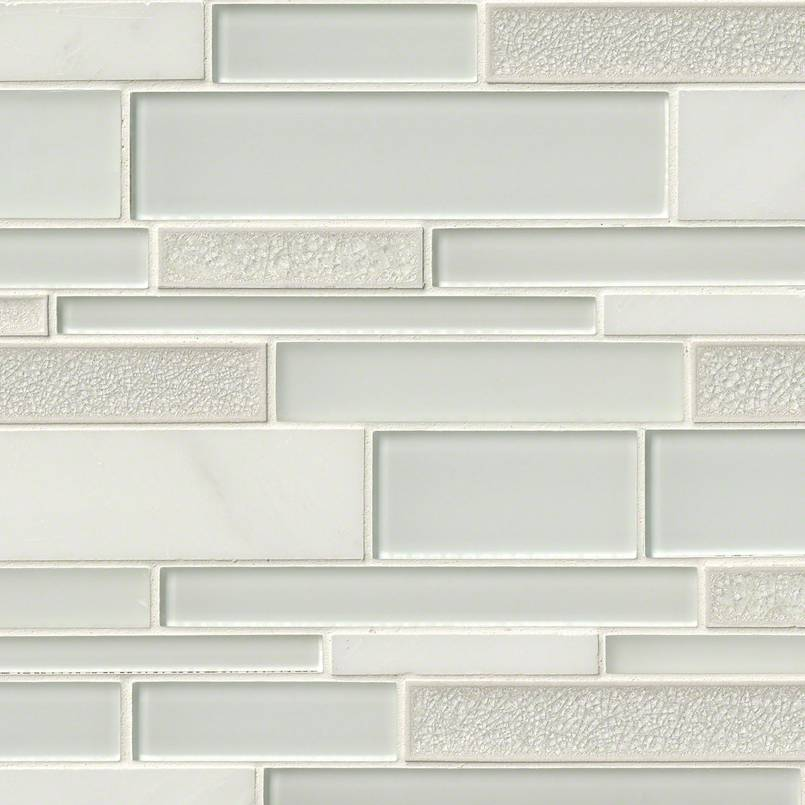 Fantasia Blanco Interlocking Pattern 12x18x8mm Decorative Mosaic Tile