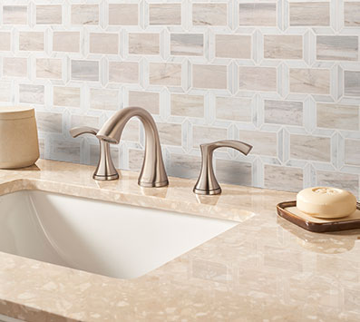 Geometric Pattern Backsplash Tile