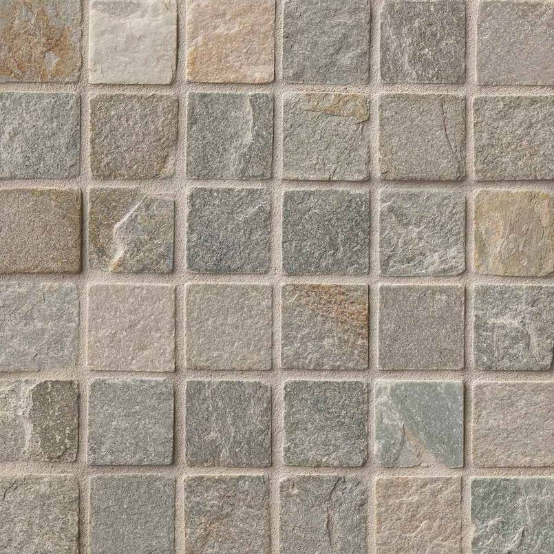Golden White Quartzite 2x2 Tumbled in 12x12 Mesh