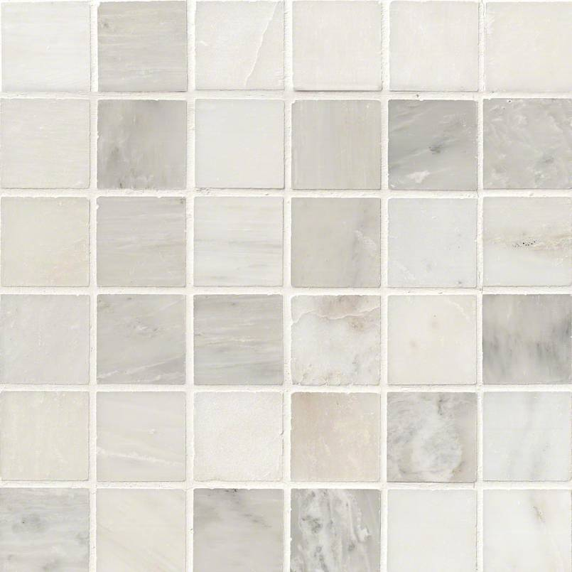 Greecian White 2x2 Polished In 12x12 Mesh Marble