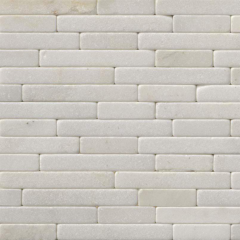 Greecian White Tumbled Veneer 8x18 Backsplash Tile