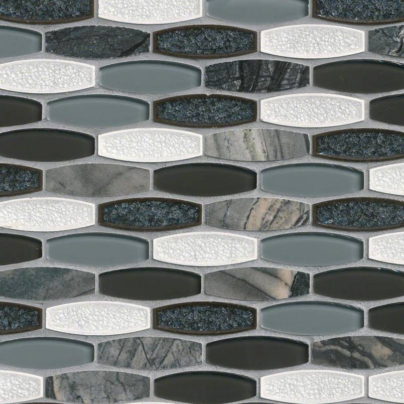 Haley Gris 8mm Decorative Mosaic Tile