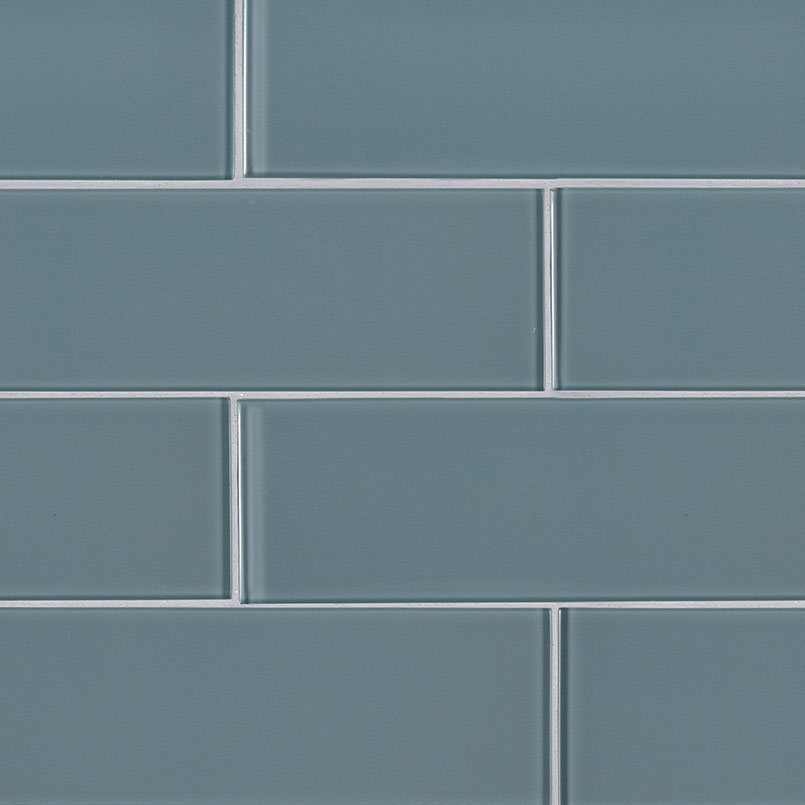 Harbor Gray 3x9x8mm Glass Backsplash Tile