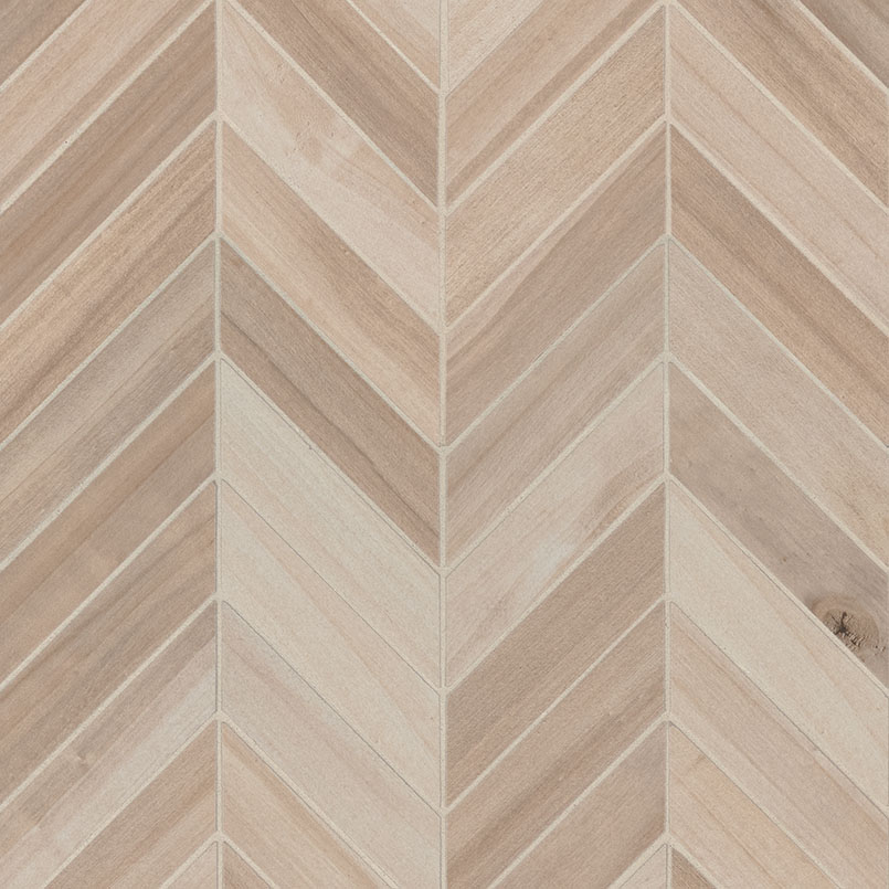 Havenwood Beige Chevron Mosaic 12x15