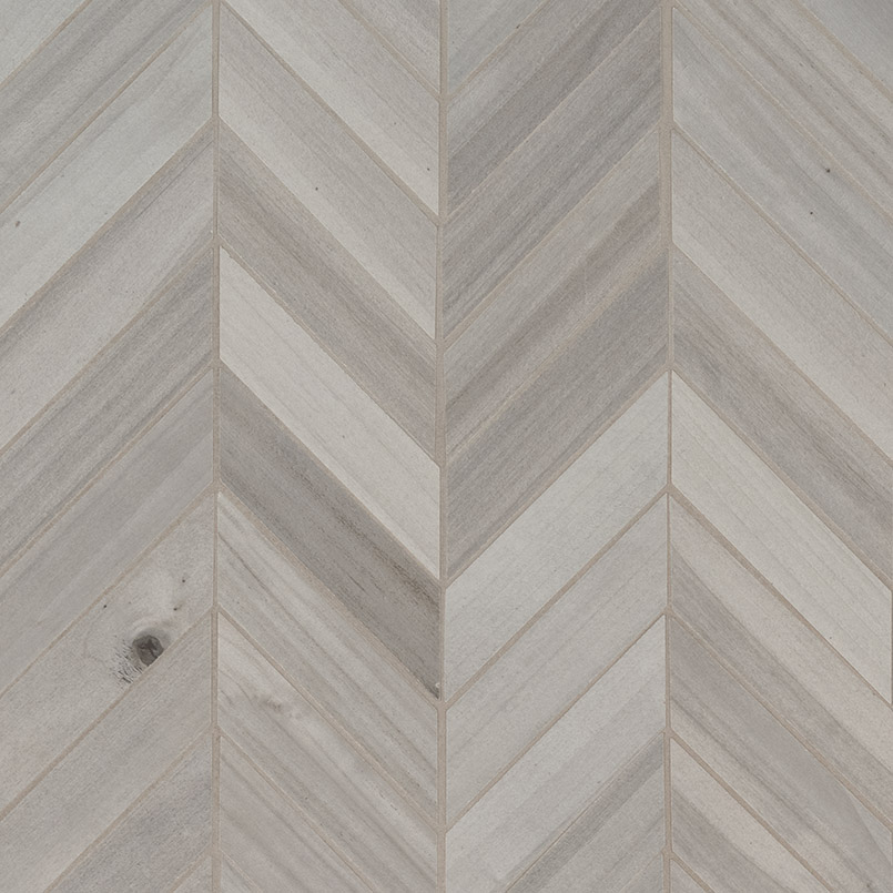 Havenwood Platinum Chevron Mosaic 12x15