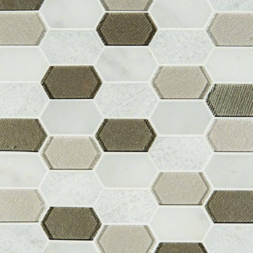 Inessa Blanco Picket Pattern 8mm Decorative Mosaic Tile