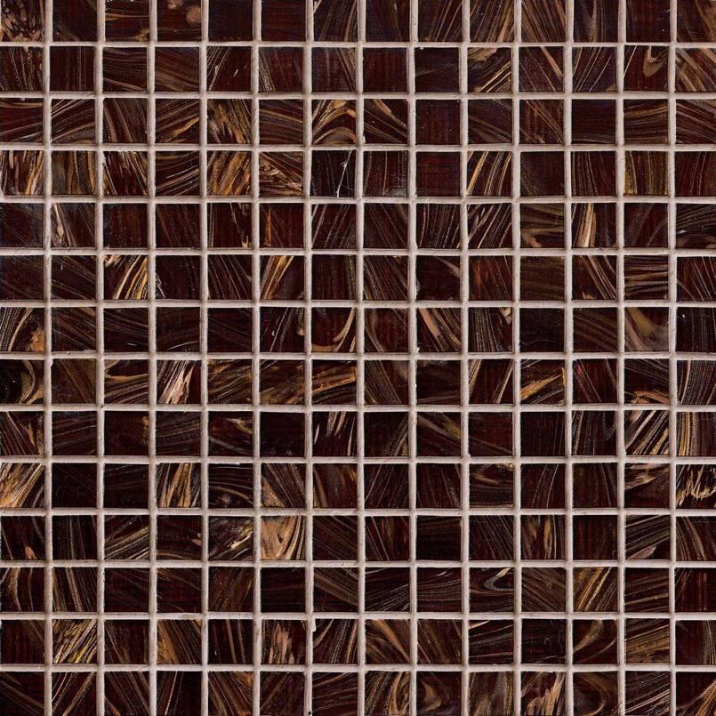 Iridescent Brown Glass  Pool Tile