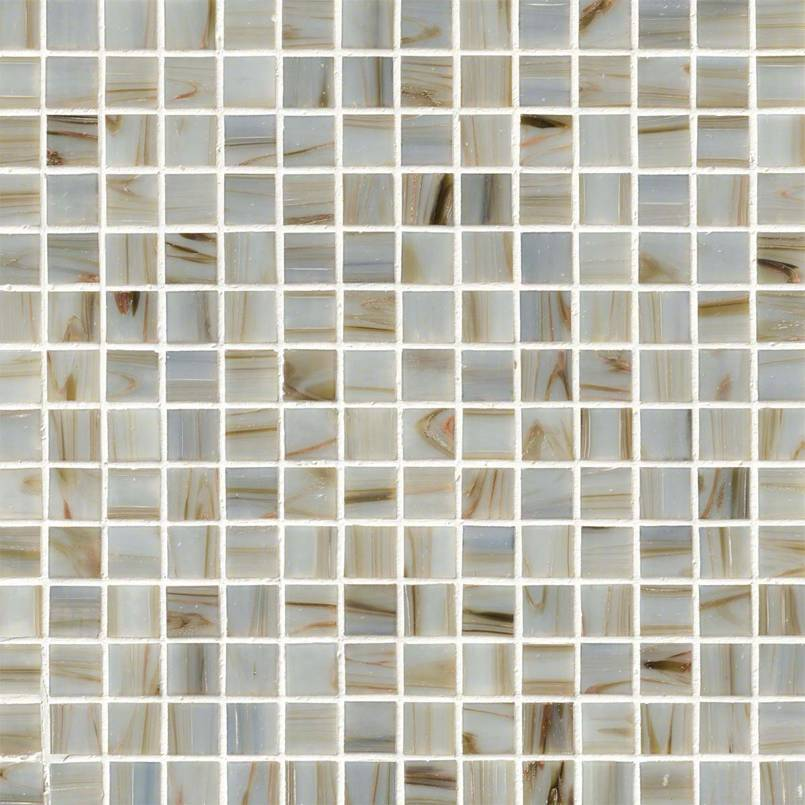 Iridescent Ivory Glass Pool Tile