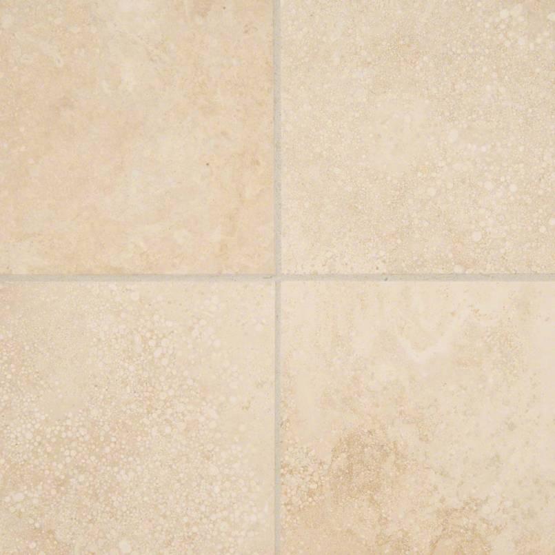 Ivory Travertine 6x6 Honed And Beveled Tile A - Travertine Backsplash