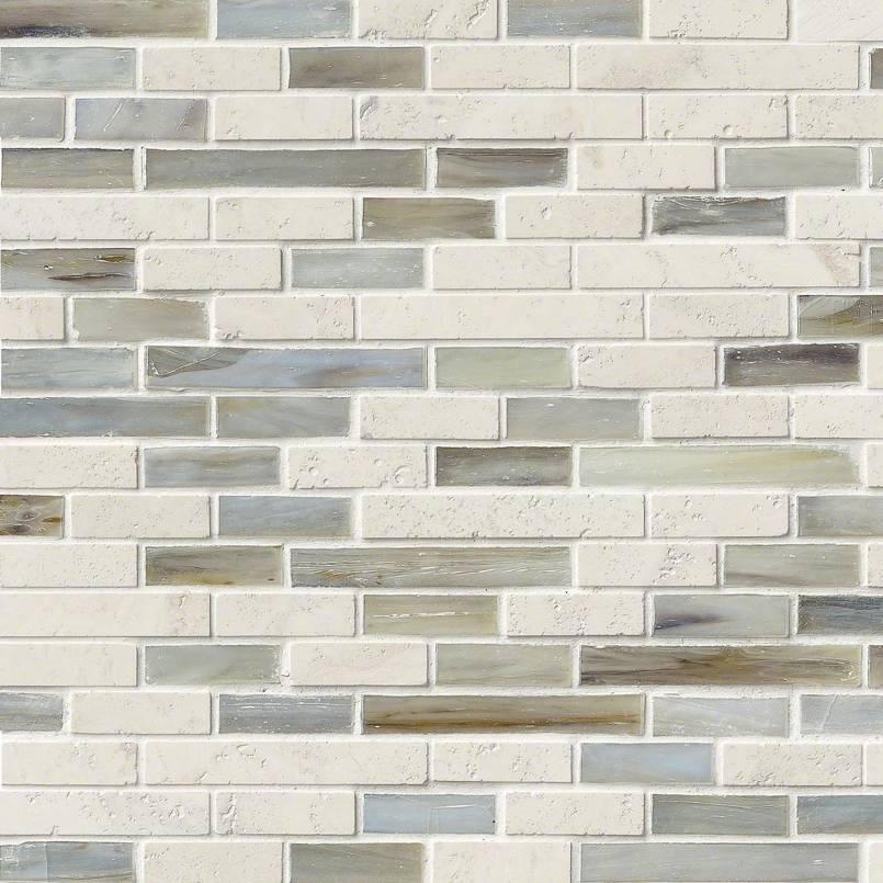 Kaledo Blend Interlocking Pattern 6mm Decorative Mosaic Tile