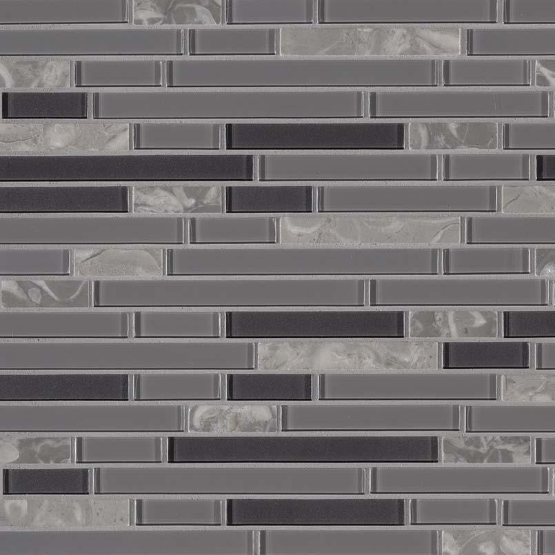 Lorena Grigio Interlocking 4mm Decorative Mosaic Tile