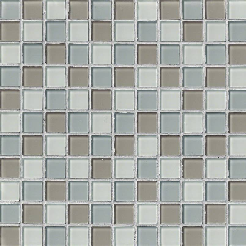 Majestic Ocean Crystallized Glass 1x1x4MM in 12x12 Mesh Pool Tile