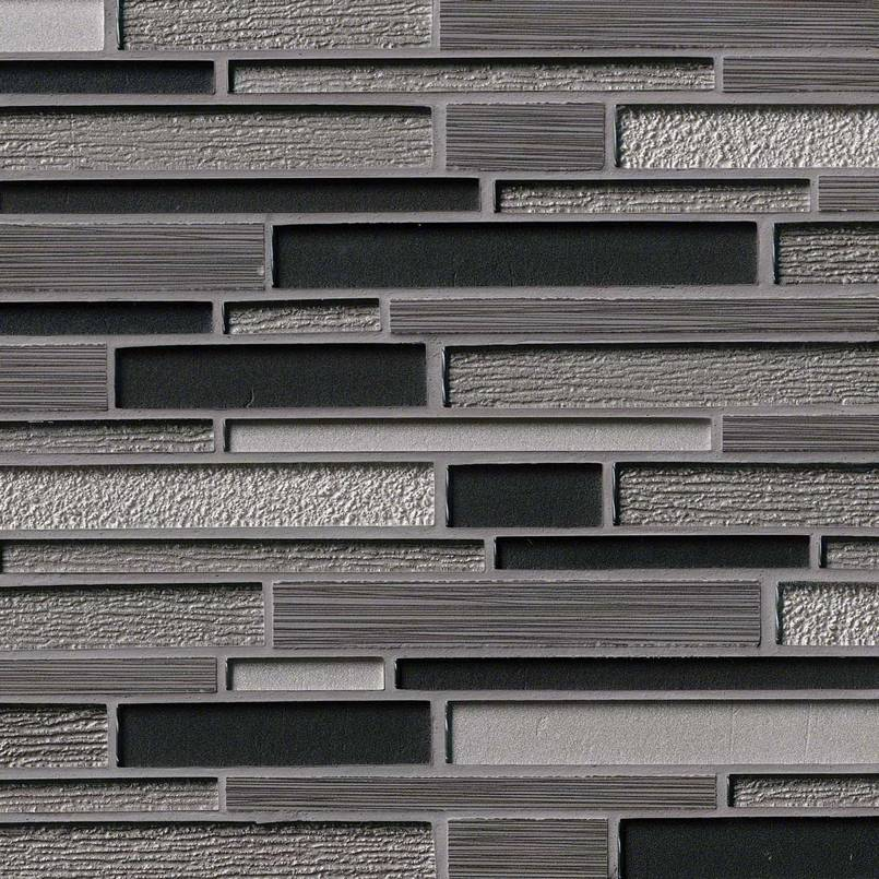 Metro Gris Blend Interlocking 8mm Decorative Mosaic Tile