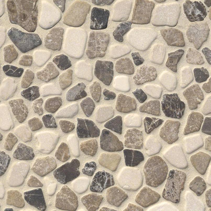 Mix Marble Pebbles Tumbled 10mm Pebble Backsplash