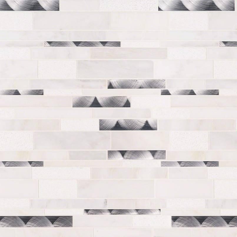 Moderno Blanco Interlocking 12x18 Pattern 8mm
