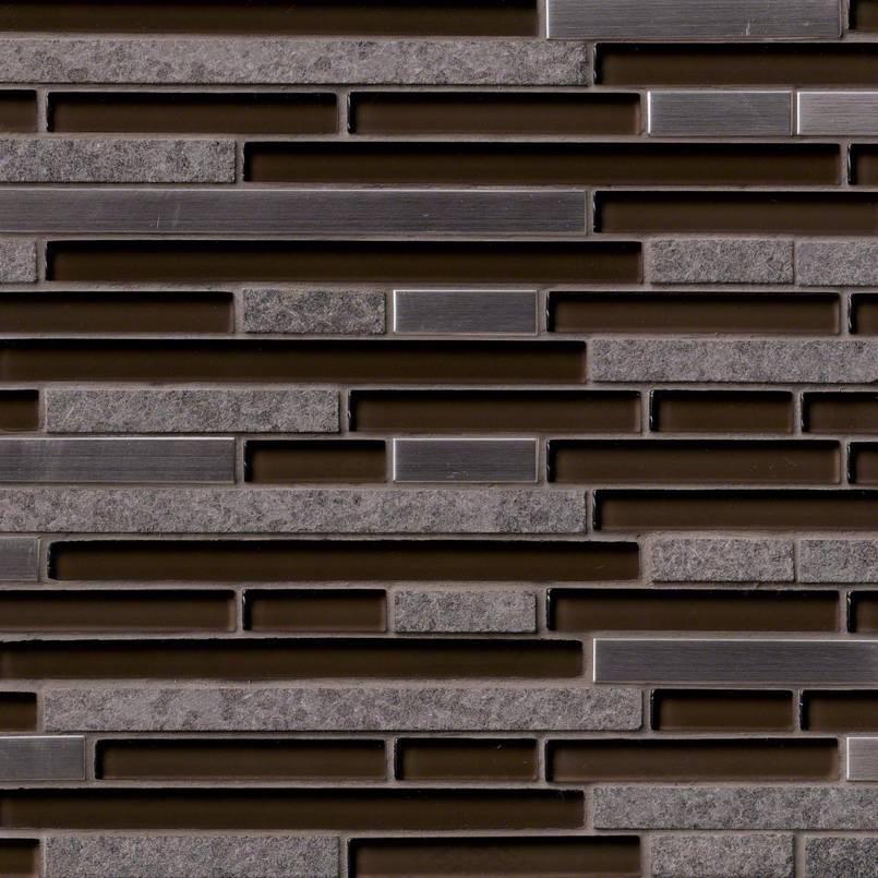 Niagra Interlocking Pattern 8mm Decorative Mosaic Tile