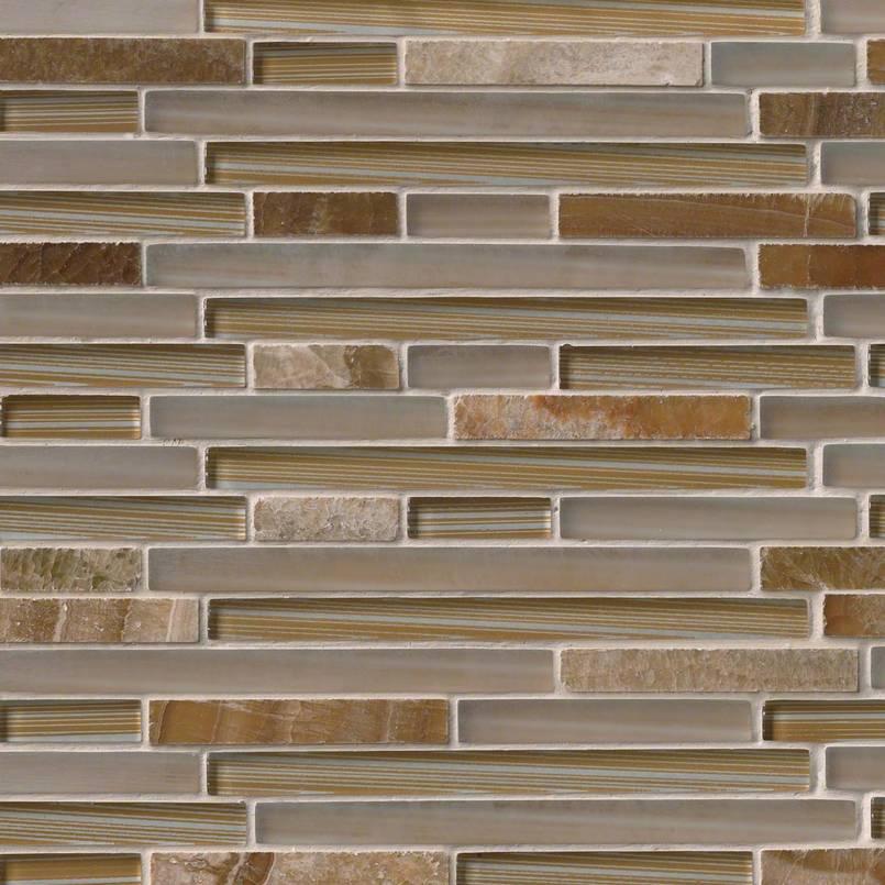 Pelican Sand Interlocking Pattern 8mm Decorative Mosaic Tile