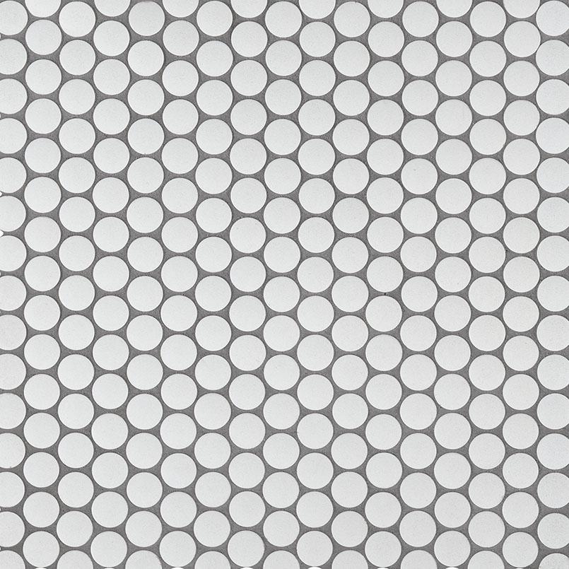 penny round bianco matte glass blend tile backsplash wall tile
