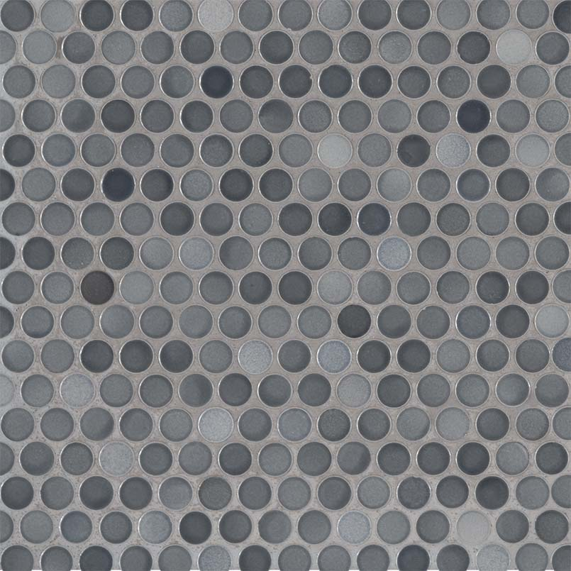 Penny Round Grigio Mix Backsplash Tile Wall Tile Penny