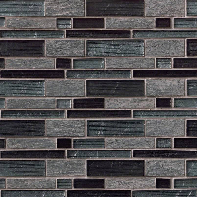 Perspective Blend Interlocking Pat 8mm Decorative Mosaic Tile