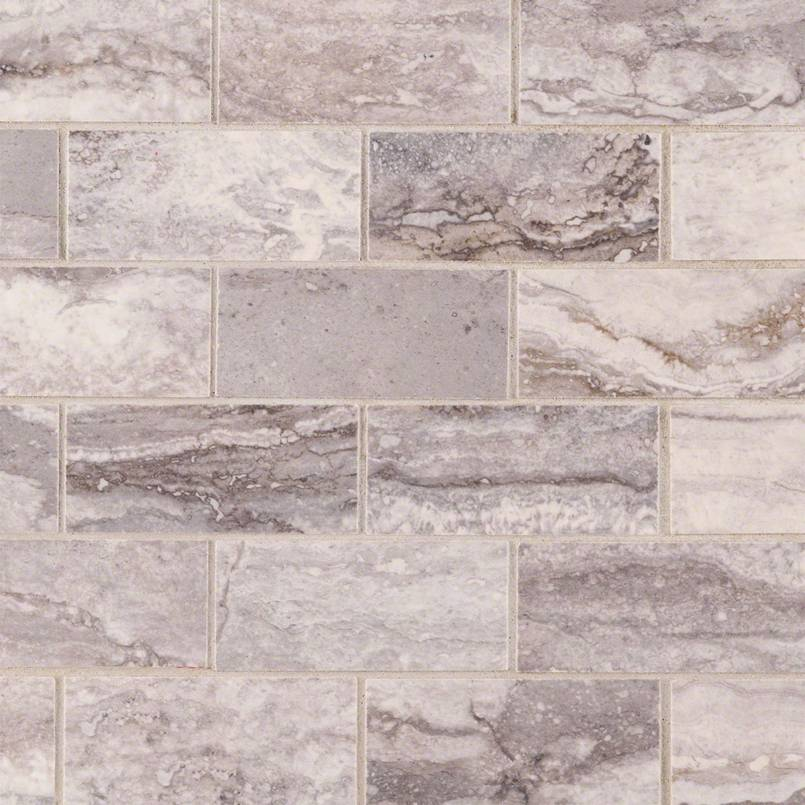 Pietra Bernini Carbone 2X4 Mosaic Polished
