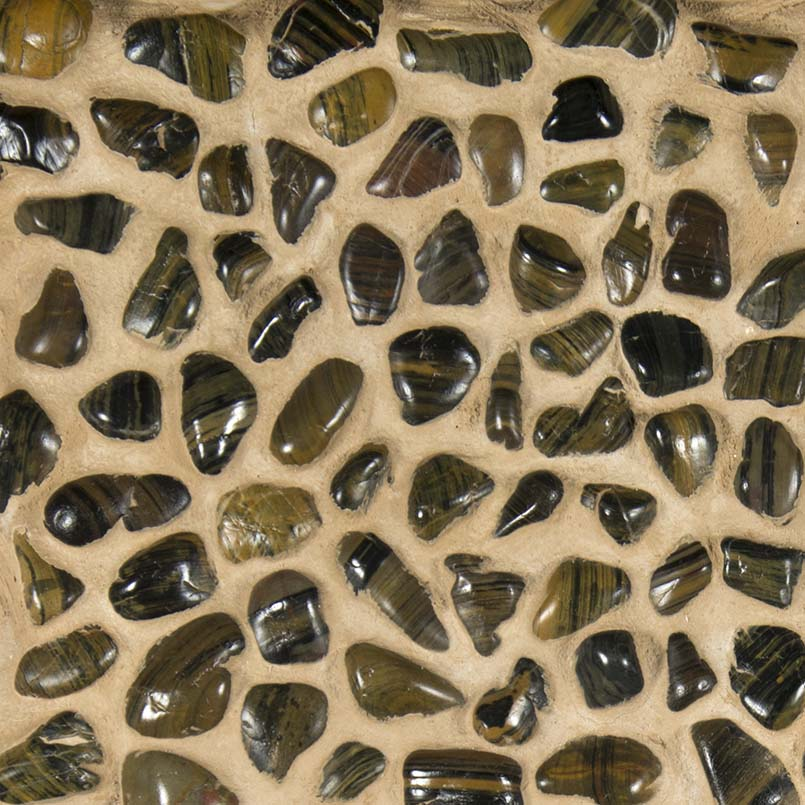 Polished Mix Pebbles Meshed 12x12 Pebble Backsplash
