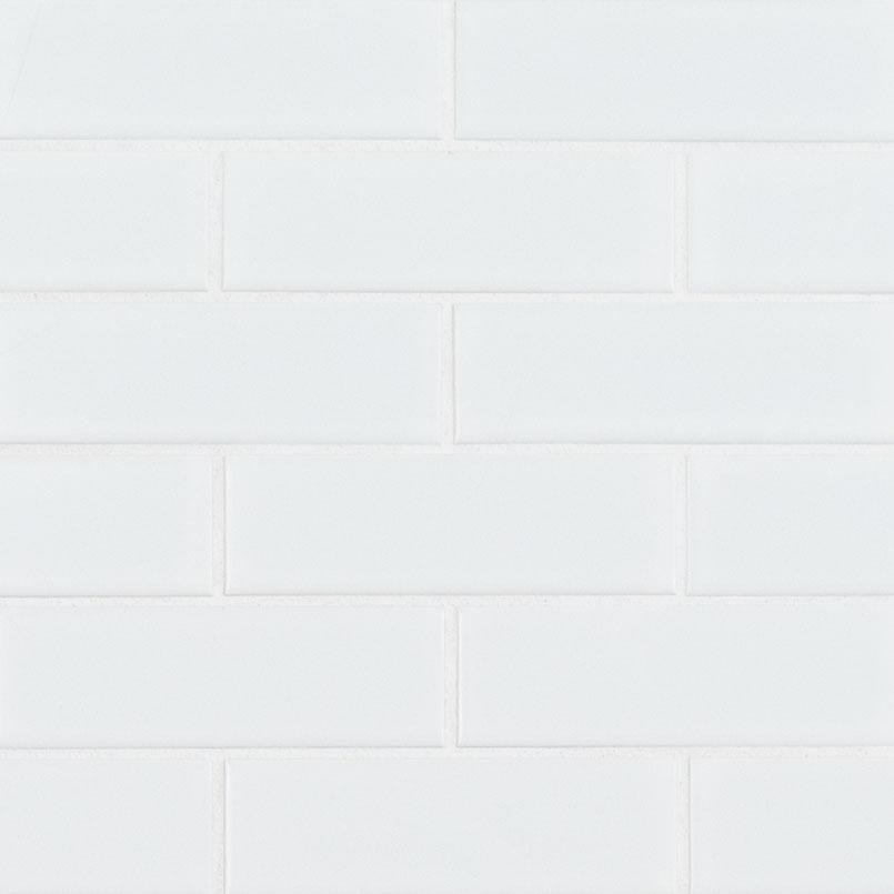 Retro Brick Bianco Matte Subway Tile Collection