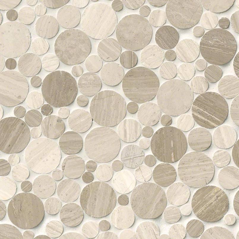 Serenity Stone Pebble Polished Pebble Backsplash