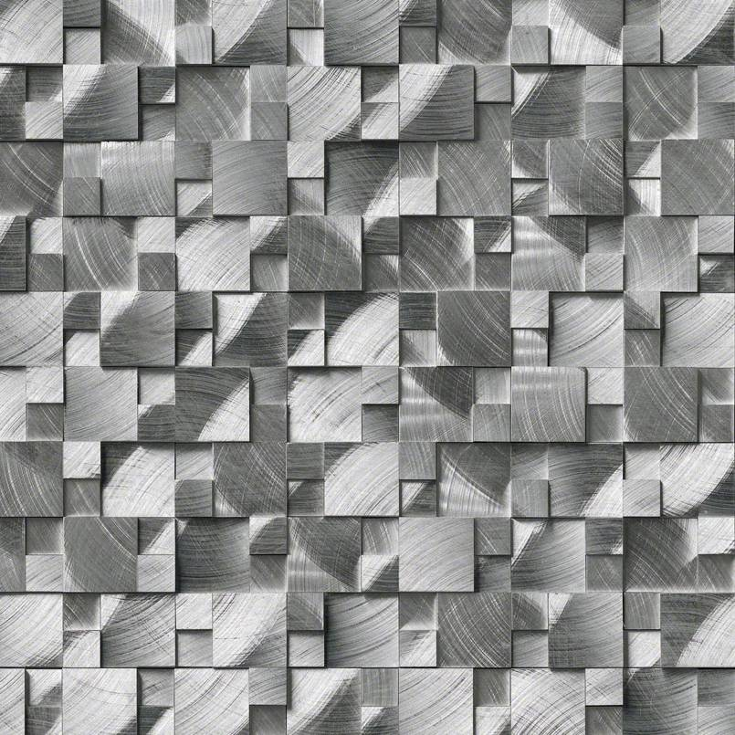 Wondrous Silver Aluminum Metal 3D Pattern Backsplash Wall Tile Home Interior And Landscaping Ologienasavecom