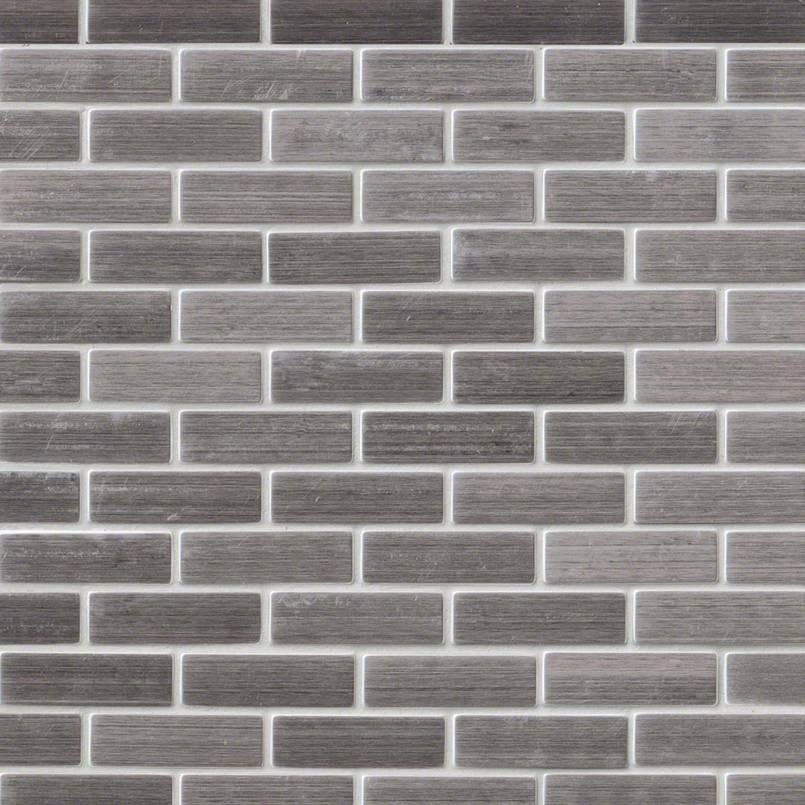 Silver Metal 0.75x2.5 Brick Pattern