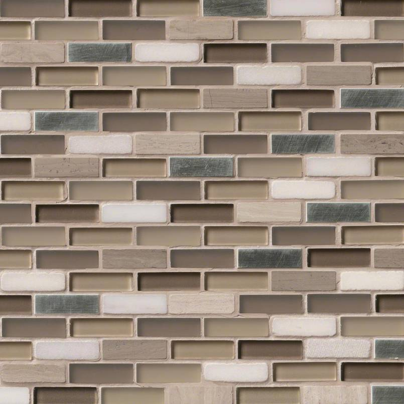 Silver Tip 0.625x2x8mm Decorative Mosaic Tile