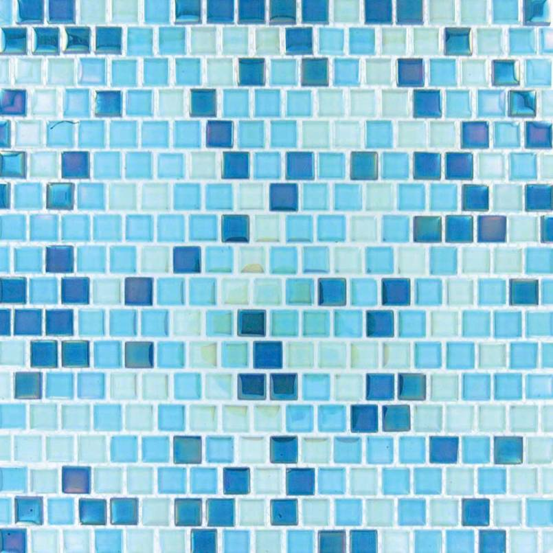 Sky Blue Blend Pool Tile