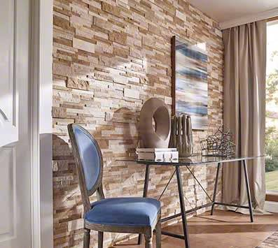 Stacked Stone Backsplash Tile