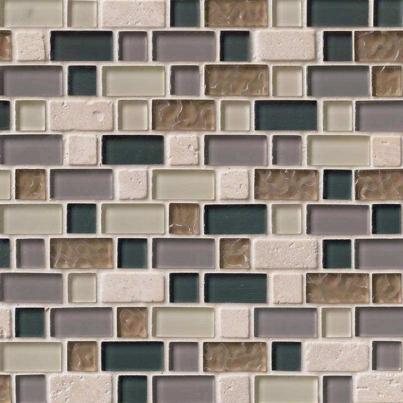 Stonecrest Interlocking Pattern 8mm Decorative Mosaic Tile