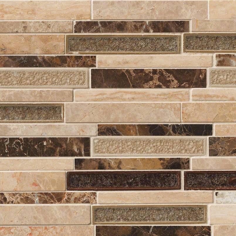 Stonegate Interlocking Pattern 8mm Decorative Mosaic Tile