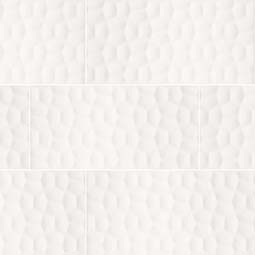 Adella Viso White 12x24 Satin  3D Wall Tile