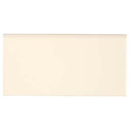 Almond Glossy 3X6 Single Bull Nose Tile Trim