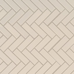 Almond Glossy Herringbone Mosaic Product Page