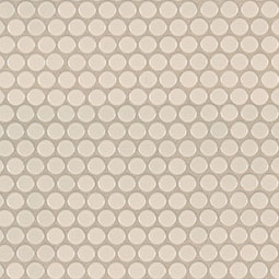 Almond Glossy Penny Round Mosaic Product Page