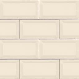 Almond Glossy Subway Tile Beveled 3x6 Product Page